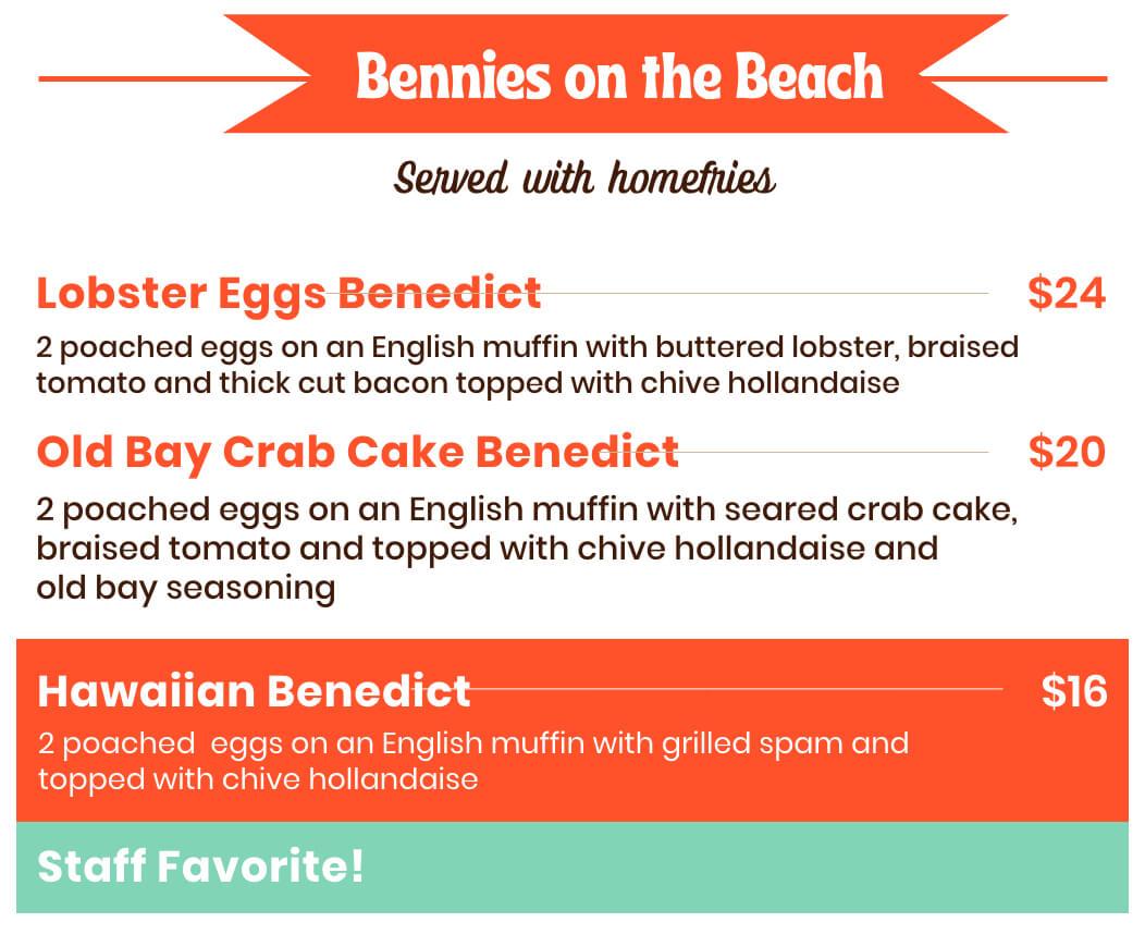 Bennies on the beach